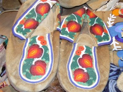 Heavily beaded moccasins – circa late 1930's