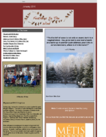 January 2016 Newsletter – Feathers In The Wind