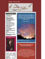 October-November 2014 Newsletter – Feathers In The Wind