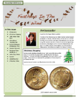 November 2010 Newsletter – Feathers In The Wind