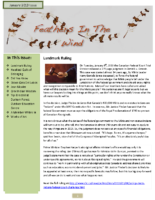 January 2013 Newsletter – Feathers In The Wind